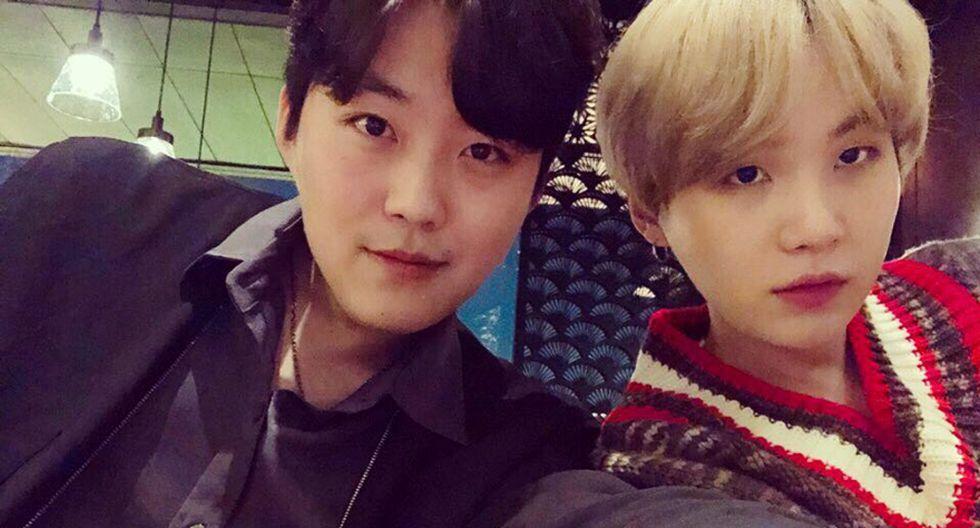 Suga y su hermano mayor, Min Geum-jae. (Foto: Difusión)