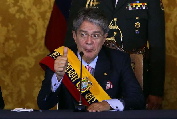 The President of Ecuador, Guillermo Laso, is mentioned in Pandora's Papers.  (Christina Vega Rohr/AFP).
