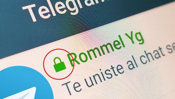 Así puedes saber qué significa el candado dentro de tus conversaciones de Telegram. (Foto: MAG)