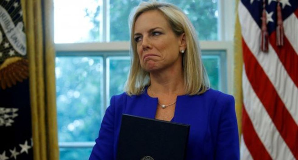 Kirstjen Nielsen había desempeñado el cargo de secretaria de Seguridad Nacional desde diciembre de 2017. Foto: Reuters