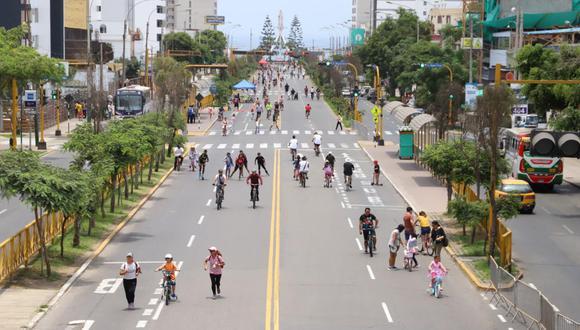 Las actividades recreativas se realizaban en carril central de la avenida Brasil los domingos hasta antes de la pandemia. (Foto: Municipalidad de Magdalena)