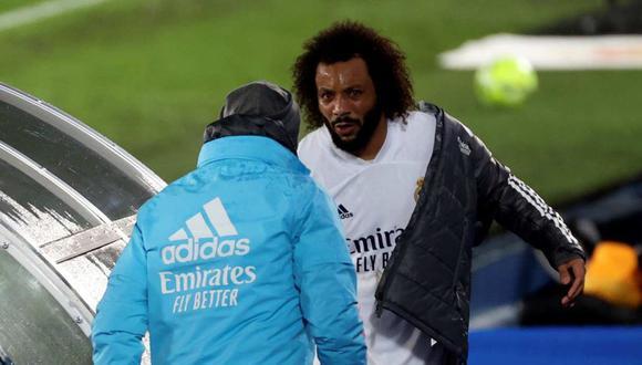 Marcelo se marchó en el minuto 84 por una molestia física. (Foto: EFE)