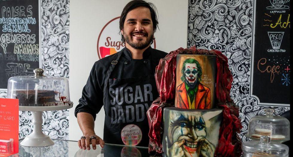 Víctor Tarazona es el chef pastelero que hace tortas impresionante y hace unos días preparó una de 'Joker'.