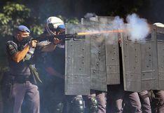 Protesta contra Bolsonaro termina con reyertas y gases en Sao Paulo |  FOTOS