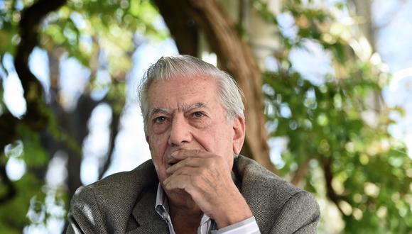 Mario Vargas Llosa en octubre de 2014 , durante una conferencia de prensa al sur de Francia. Foto: AFP