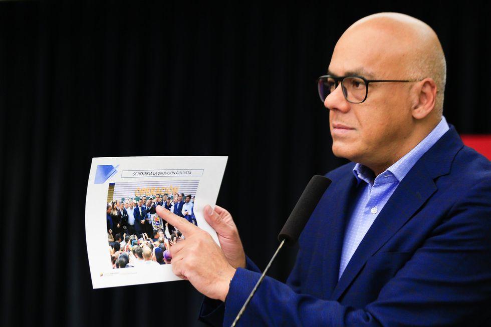 Jorge Rodríguez, ministro de Información de Venezuela. (AFP).