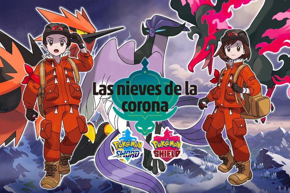 Solo faltan unas horas para el estreno del segundo DLC de Pokémon Espada y Escudo, Las Nieves de la Corona. (Imagen: The Pokémon Company/ Composición: El Comercio)
