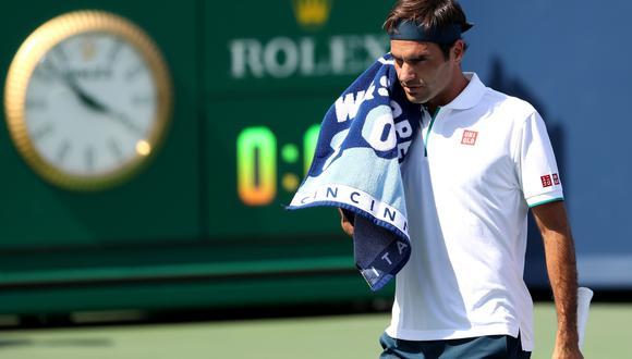 Roger Federer fue sorprendido por el ruso Andrey Rublev y quedó fuera del Masters de Cincinnati en octavos de final. (Foto: AFP)