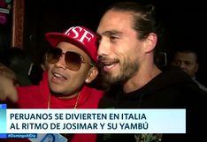 Seleccionado uruguayo disfrutó del concierto de Josimar en Italia