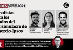 El Comercio-Ipsos: Tres analistas evalúan este domingo resultados de primer simulacro de votación