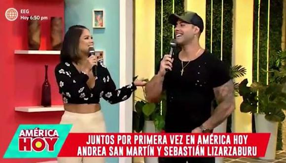 Sebastián Lizarzaburu sobre Andrea San Martín. (Foto: captura de video)