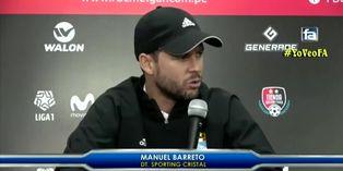 """Manuel Barreto tras derrota de Cristal: """"Se vive un ambiente de agresividad"""""""