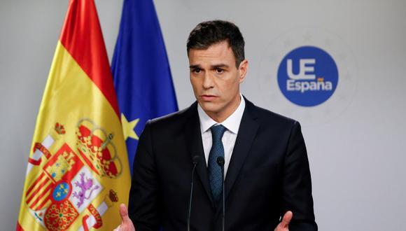 El presidente de España, Pedro Sánchez trasladó ese compromiso a Merkel en su reunión de hoy en Bruselas junto al primer ministro de Grecia, Alexis Tsipras. (Foto: EFE)