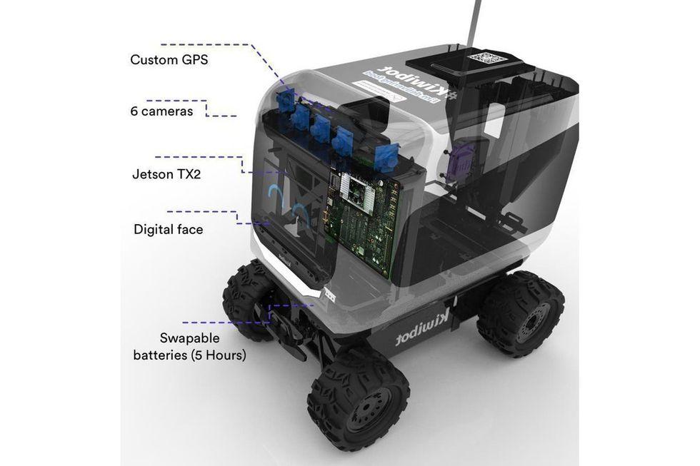 La tecnología del Kiwibot. (Foto: La Nación)