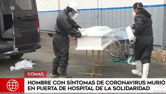 El cuerpo del hombre fue recogido bajo estrictos protocolos. (América Noticias)