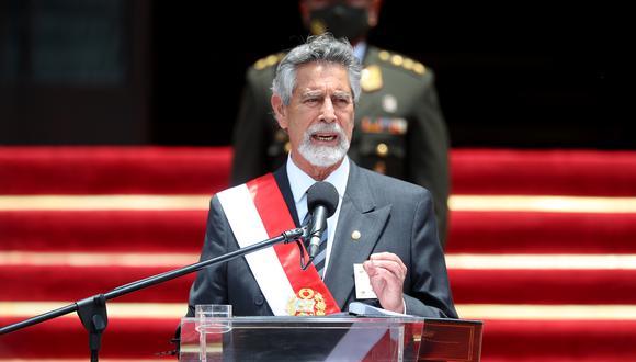 Francisco Sagasti emitió un pronunciamiento en el Día Internacional de la Eliminación de la Violencia contra la Mujer. (Foto: Presidencia)