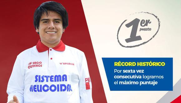 Andrés Fabián (16 años) obtuvo en el examen de admisión de la UNI dos puntajes perfectos en la prueba de Matemática y de Física y Química, superando a cerca de 6,000 postulantes. (Facebook)
