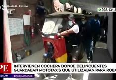 Comas: intervienen cochera donde guardaban mototaxis usadas para cometer robos