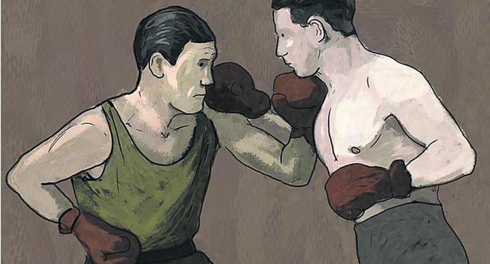 Pasión por el box. (Ilustración: Giovanni Tazza)