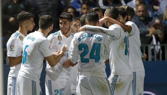 Real Madrid ganó 2-0 al Fuenlabrada de visita por Copa del Rey. (Foto: AFP)