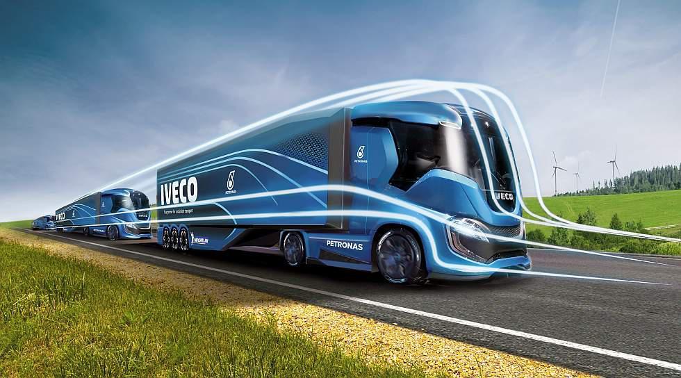 """Iveco develó su prototipo Z Truck para transporte de larga distancia con """"cero impacto ambiental"""". (Fotos: Difusión)"""