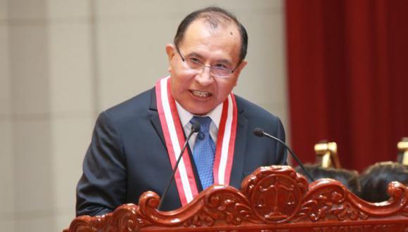 Víctor Ticona encabezó el JNE entre los años 2016 y 2020, cargo desde el cual gestionó favores con César Hinostroza. (Foto: Archivo GEC)