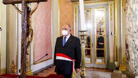 """Ántero Flores-Aráoz dijo que """"está en manos del TC"""" la decisión. (Foto: Presidencia)"""