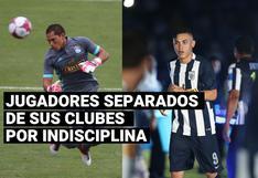Futbolistas separados por indisciplina de sus clubes