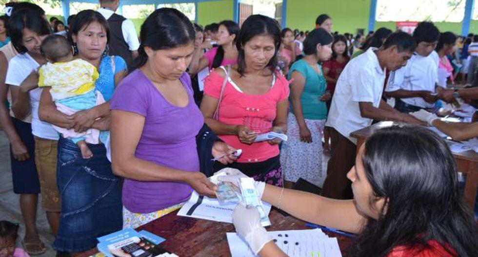 Familias nativas recibieron transferencia económica
