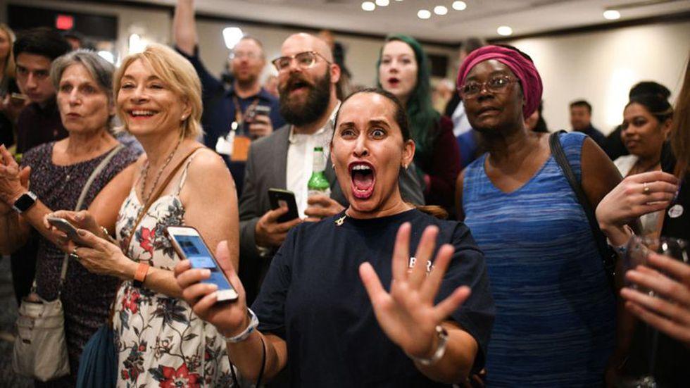 Los adeptos del Partido Demócrata tuvieron razones para celebrar este martes. (Getty Images)