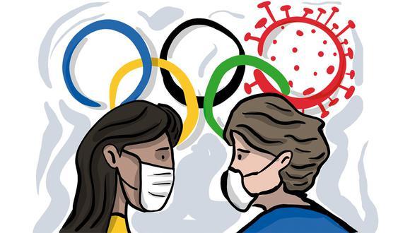 """""""Durante los Juegos, una parte significativa de los recursos médicos de Tokio se desviará de la respuesta COVID-19, con el fin de satisfacer las necesidades de los competidores y su personal de apoyo"""". (Ilustración: Giovanni Tazza)"""