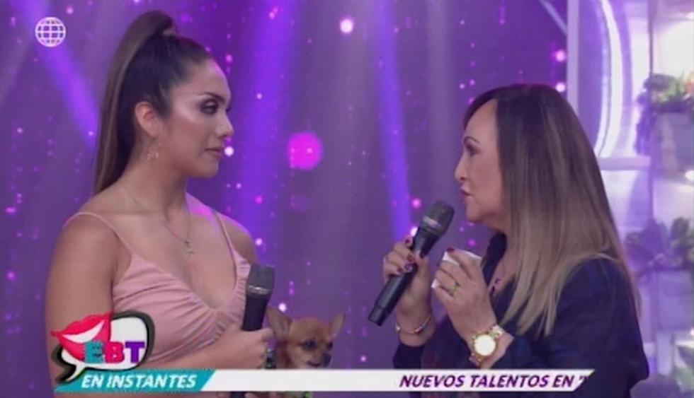 Madre de Isabel Acevedo le pidió que se quite el collar que le regaló Christian Domínguez. (Imagen: América TV)