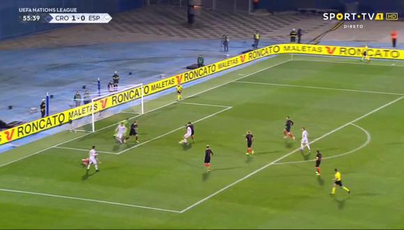 Dani  Ceballos se hizo presente en el España vs. Croacia y colocó la paridad para 'La Roja'. El duelo se disputó por la jornada 5 de la UEFA Nations League (Foto: captura de pantalla)