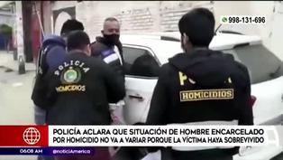 Policía aclara caso de hombre encarcelado por homicidio