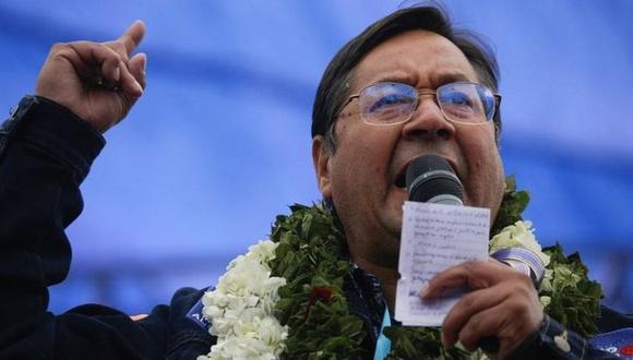 Luis Arce triunfó con más del 55% de los votos. (Reuters).
