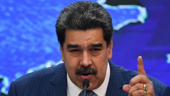 El presidente venezolano Nicolás Maduro durante una conferencia de prensa con corresponsales de medios internacionales en el Palacio Presidencial de Miraflores en Caracas. (Foto: Federico PARRA / AFP).