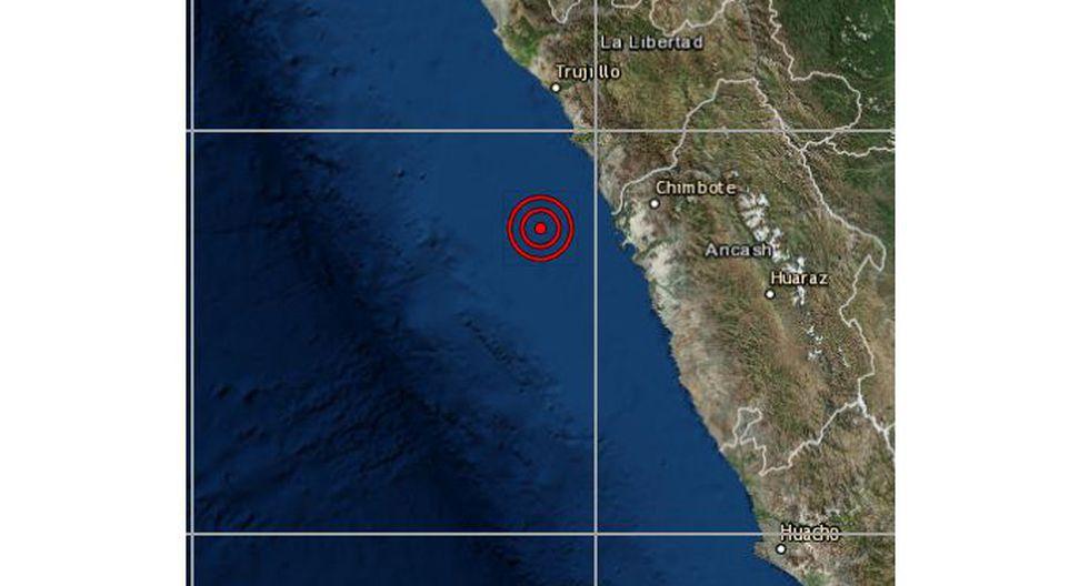 Un sismo de magnitud 4,1 se registró en la provincia de Santa, en Áncash, este sábado a las 12:36 horas, sin causar víctimas ni daños materiales. (Foto: IGP)