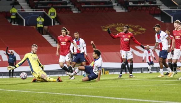 Manchester United y PSG se enfrentaron en un gran partido por la quinta fecha de la Champions League | Foto: @PSG_espanol