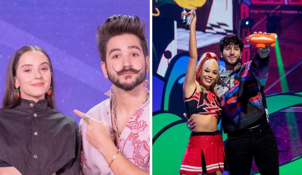 """Los Premios Kids Choice Awards México se vivieron de la mano de los esposos <a href=""""https://mag.elcomercio.pe/noticias/camilo-echeverry/"""">Camilo Echeverry</a>y <a href=""""https://mag.elcomercio.pe/noticias/evaluna-montaner/"""">Evaluna Montaner</a>. Fue una gala sin antecedentes, pues no contaron con público y trataron de cumplir todas las medidas sanitarias, aún bañando a los participantes con su famoso <i>'slime'</i>. (Foto: Instagram / @nickelodeonla / @dannapaola)."""