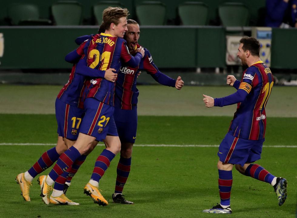 Barcelona venció al Real Betis por LaLiga Santander