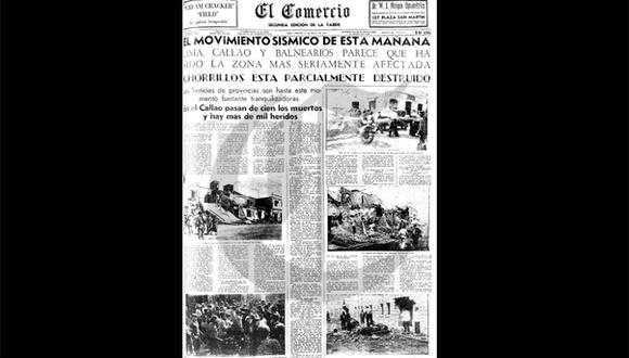 Así ocurrió: En 1940 Lima fue destruida por un sismo
