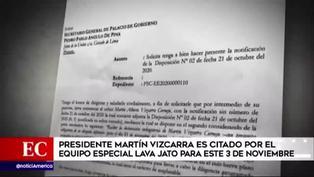 Fiscal Juárez Atoche pide declaraciones de Vizcarra para el 3 de noviembre