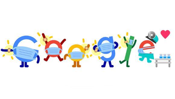 Doodle destaca a la vacunación como un herramienta eficaz contra el coronavirus. (Foto: Google)