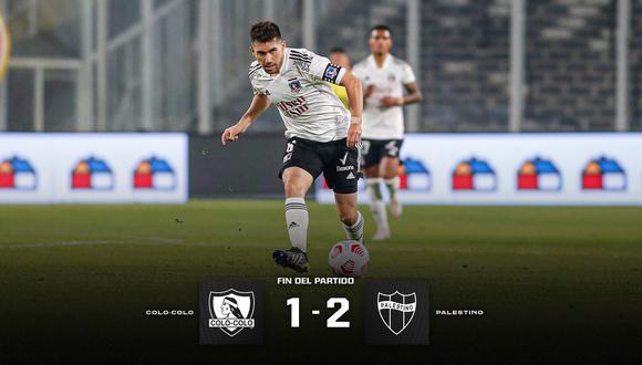 Colo Colo cayó ante Palestino por el Campeonato Nacional de Chile