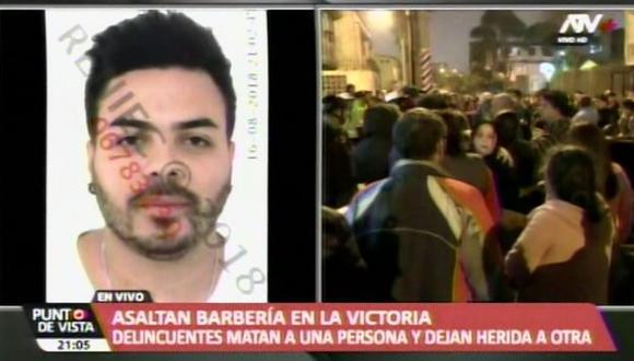La víctima fue identificada como Fernando Pereyra Velarde, quien atendía en el local llamado Afrobarber. (ATV+)