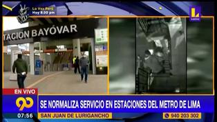 SJL: se reestablece servicio en estaciones del Metro de Lima