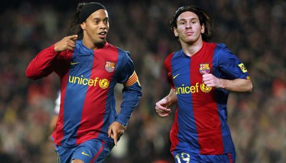 Ronaldinho Gaúcho dialogó en una entrevista para un medio español, sobre la carrera de Lionel Messi en el Barcelona. El brasileño no dudó en elogiar a la 'La Pulga' (Foto: USI)
