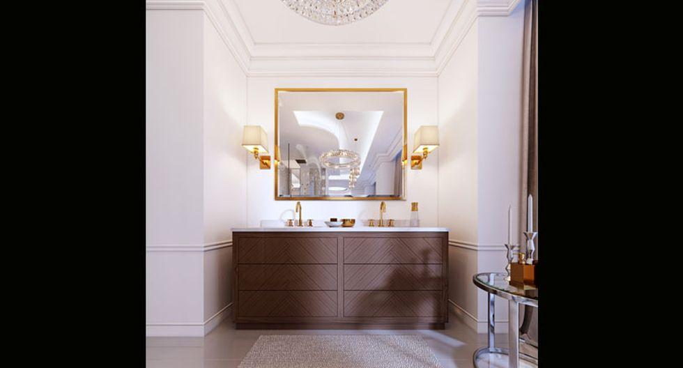 Utiliza espejos con marcos llamativos de color dorado o plateado, para conseguir una apariencia elegante. Para un look moderno, usa espejos lineales y sencillos. (Foto: Shutterstock)