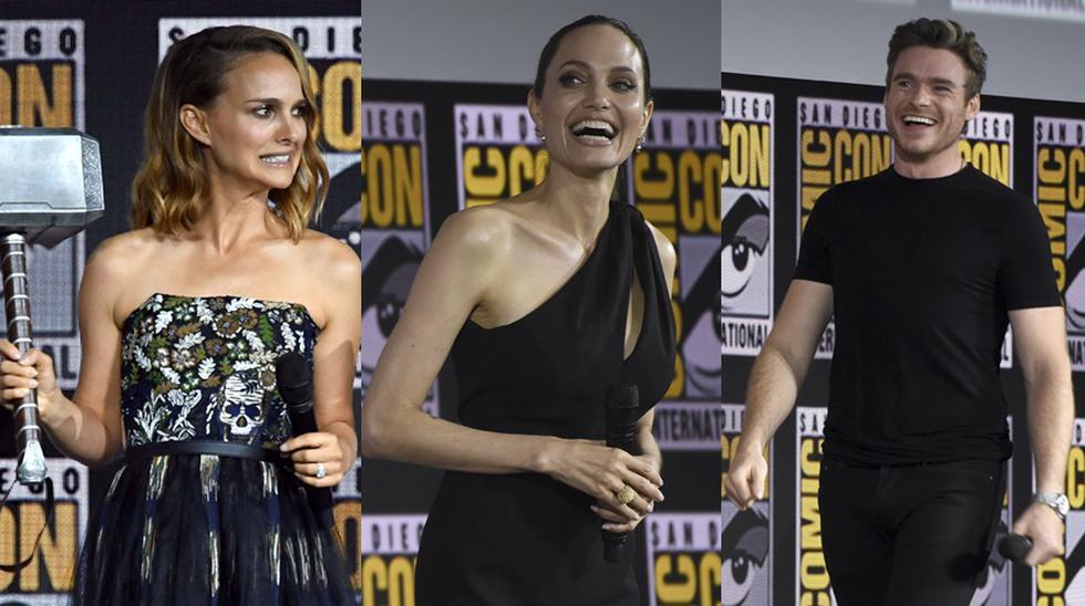 Angelina Jolie, Richard Madden y Natalie Portman.