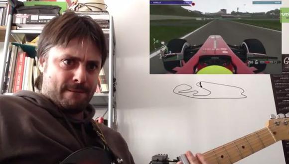 YouTube: guitarrista toca al ritmo del motor de un Fórmula 1